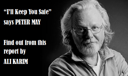 I'll Keep You Safe says PETER MAY